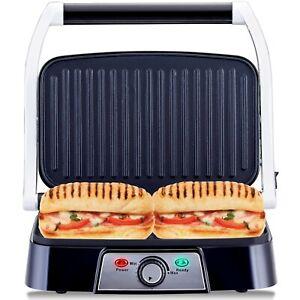 NETTA 1500W Electric Panini Press Sandwich Toastie Maker Grill 2 Slice