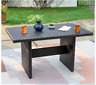 Outdoor Chat Table Resin Wicker Patio Furniture Poolside Modern Dining Backyard