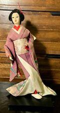 �� Japanese Antique Geisha Woman Lady Oyama Kimono Figure Doll - Exquisite! �