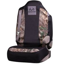 Realtree Xtra Universal Seat Car Truck Cover Black Camo w/FREE AIR FRESHENER