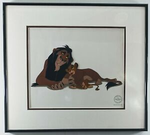 """Scheming Scar"" FRAMED The Lion King Simba Scar Disney Villian Sericel"
