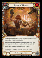 Flesh and Blood TCG! 1x Spark of Genius - Rainbow Foil - NM Arcane Rising