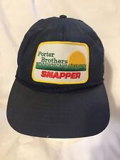 Porter Brothers Snapper Patch Trucker Hat Rope Snapback Americap USA Made Cap