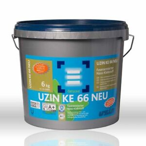 UZIN KE 66 Faserarmiert, Kautschuk, PVC, Vinyl, Designbelag 6 kg
