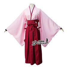 Fate/Grand Order Sakura Saber / Okita Souji cosplay rosa Kimono Cosplay Kostüm