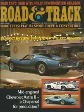ROAD & TRACK 1968 JULY - FIAT 124 & PBS, ASTRO II