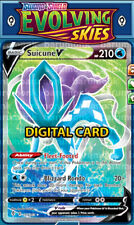 (Digital Pokemon Card) Full Art Suicune V 173/203 Evolving Skies PTCGO Sent Fast
