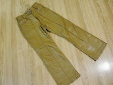 VINTAGE BROOKS SPORTSWEAR LEATHER LINED PANTS SIZE 30 BEIGE/TAN/BROWN ROCKER