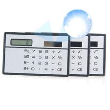 Mini Calculadora de Bolsillo de Energía Solar Pantalla Táctil Fino Portátil