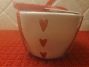 Rae Dunn Pottery VHTF Red Heart   Measuring Cups NEW