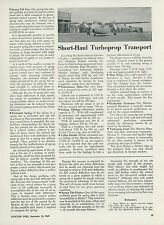 1949 Aviation Article Handley Page Marathon Turboprop Transport Airplane British