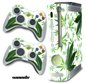 Skin Decal Wrap for Xbox 360 Original Gaming Console & Controller Xbox360 WeedsW