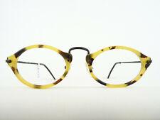 Ovale Brille in Hornoptik hellbraun rund/oval Marke Menia Brillenfassung Gr. M