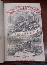 UNIONE TIPOGRAFICO EDITRICE torinese CATALOGO GENERALE 15 Maggio 1888