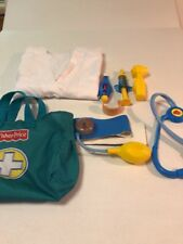 Fisher Price Doctor Bag Toy Set Pretend Play Kit Medical Nurse Equipment Set