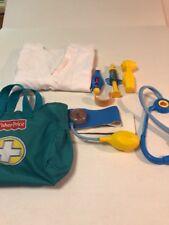 Fisher Price Doctor Bag Toy Set Pretend Play Kit Medical Nurse Equipment Set