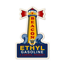 Vintage Style Retro Beacon Gasoline Light House Steel Metal Sign 14 in. x 22 in.
