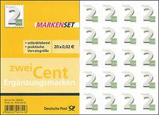 Markenset Ergänzungsmarken 2 Cent – selbstklebend – Mi.Nr. 3045