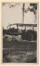 PHOTO  Automobile Car Bus Camion en feu Incendie Auto Route1928 Remorque