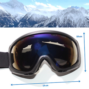 panoramic SKIBRILLE für Skihelm UV400 Optik S3 Tönung alpin Schwarz yx46 3673