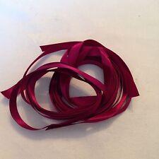 5m Of 10mm Burgundy Satin Ribbon #356