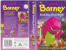 BARNEY  GOOD DAY,GOOD NIGHT   VHS VIDEO PAL~ A RARE FIND~