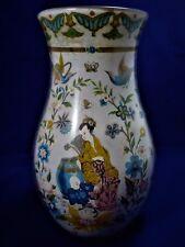Vase Fixé sous Verre au Chinois Vase  XIX ème