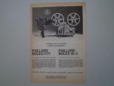advertising Pubblicità 1962 PAIILARD BOLEX ZOOM REFLEX P1/18-5