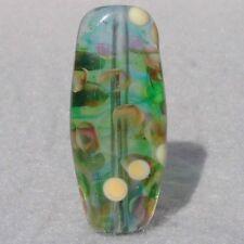 QUIETUDE Handmade Art Glass Focal Bead Flaming Fools Lampwork Art Glass SRA