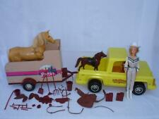 Lot Vintage Barbie Doll Traveling Horse Trailer Truck Saddle Accessories Boots