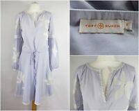 TORY BURCH Lavender Sadie Dress UK 10 Floral Appliqués Summer Crepe de Chine