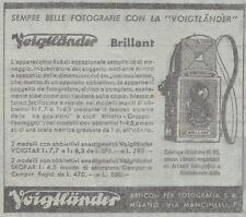Y3553 Apparecchio fotografico Voigtlander Brillant - Pubblicità - 1937 old ad