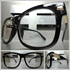 SOPHISTICATED CLASSY VINTAGE Style Clear Lens EYE GLASSES Black Rose Gold Frame