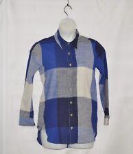 Joan Rivers Long Sleeve Graphic Buffalo Check Shirt Size 1X Blue