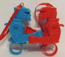 Rock 'Em Sock 'Em Robots Artesian Ornaments Red and Blue