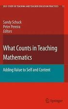 What Counts In Teaching Mathematics: Adding Value To Self And Content (self-S...