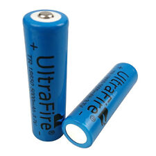 2X 18650 5000mAh 3.7V Li-ion Rechargeable Battery for LED Torch Flashlight