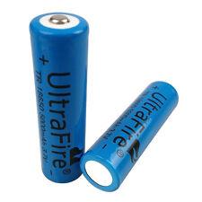 2Pcs 18650 5000mAh 3.7V Li-ion Rechargeable Battery for Flashlight Headlamp LED