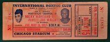 MAY 15, 1953 ROCKY MARCIANO VS JERSEY JOE WALCOTT FULL BOXING TICKET 1ST RD KO