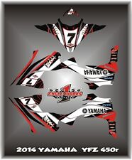 Yamaha YFZ 450R 14-15  SEMI CUSTOM GRAPHICS KIT WHITED