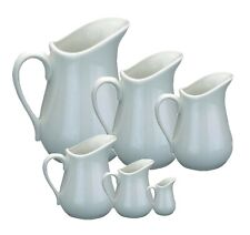 Porcelain White Milk Cream Sauce Jug Cream Gravy Custard Serving XS/S/M/Large
