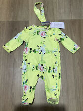 Girls Ted Baker Floral Sleepsuit Babygrow & Headband Size Newborn new with Tags