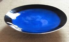 Vintage Towle silver plate and enamel tazza dish. 1950's