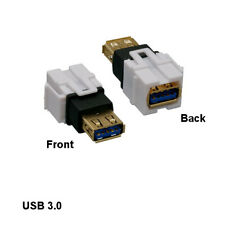 Wei/ß vergoldete Stecker-Buchse 5 St/ück TNP USB 3.0 Keystone-Buchse-Koppler-Einsatz Adapter f/ür Wandplatte Steckbuchse Steckdosenpanel unterst/ützt USB 3 SuperSpeed und USB 2.0