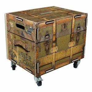 """Werkhaus - Rollbox """"Koffer Braun"""" RB6001 Rollcontainer Kiste Tisch Rolltisch Box"""