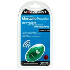 MOZZIGEAR MOSQUITO REPELLER Ultrasonic Mozzie Repellent - 3 Metres Coverage SAFE