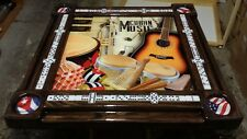 Cuban Music Collage Domino Table by Domino Tables by Art