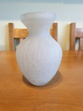 Crackle Frosted Glass Bulb Vase