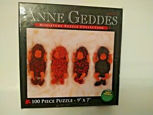 Anne Geddes 100 Piece Miniature Puzzle 9x7 Inches Berry Babies  * NEW!