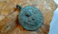 RARE 12-13th CENT. ORTHODOX MEDAL VIRGIN MARY MOTHER OF GOD OF THE SIGN PANAGIA